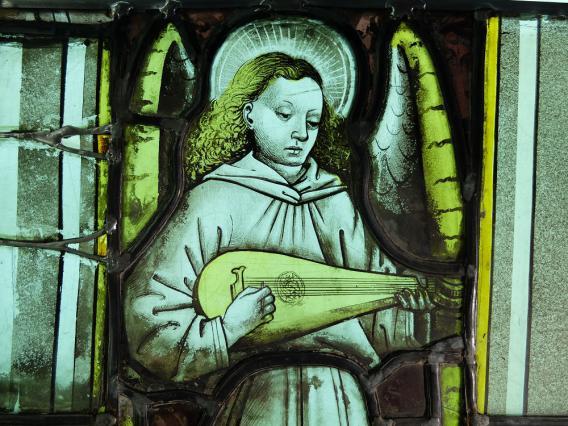 Ange musicien, verrières, Sainte-Chapelle