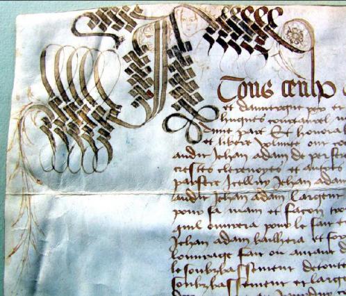 Prix-fait pour la châsse de Jean Adam, détail, 1474