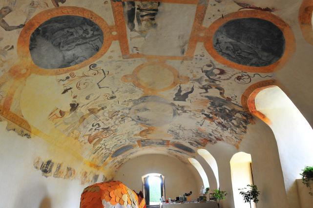 Voûte peinte des écuries - 16e siècle