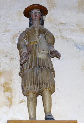 Statue de saint Verny dans l'église d'Auzat-La-Combelle