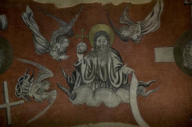 Peintures murales, chapelle du Saint-Esprit, Hôtel-Dieu du Puy-en-Velay