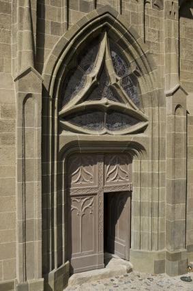 Porte de la chapelle du Saint-Esprit, Hôtel-Dieu du Puy-en-Velay