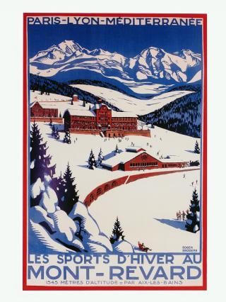 Affiche PLM «Les sports d'hiver au Mont-Revard», années 1920