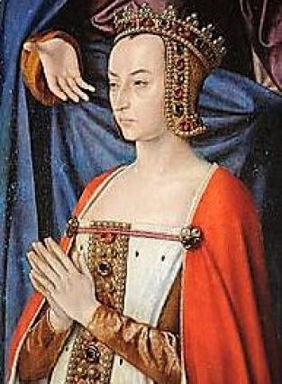 Anne de France, détail triptyque,Moulins