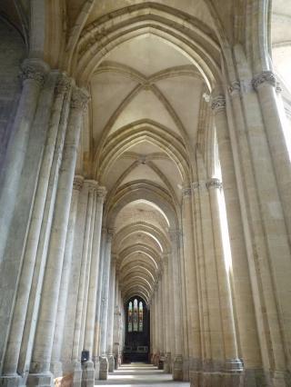 Bas-côté nord de l'ancienne cathédrale Saint-Maurice