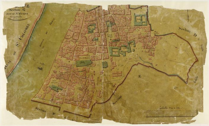 Le cadastre napoléonien de Vienne, section G dite de Saint-Maurice, 1826, Archives communales de Vienne