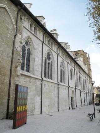 Elévation nord de l'ancienne cathédrale Saint-Maurice à Vienne après la restauration menée dans le cadre du Plan Patrimoine