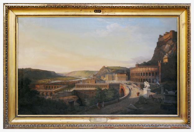Etienne Rey, Vue de Vienne romaine, 1860, Musée des Beaux-Arts et d'archéologie, Vienne