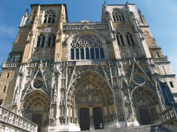Façade ouest de l'ancienne cathédrale Saint-Maurice, Vienne