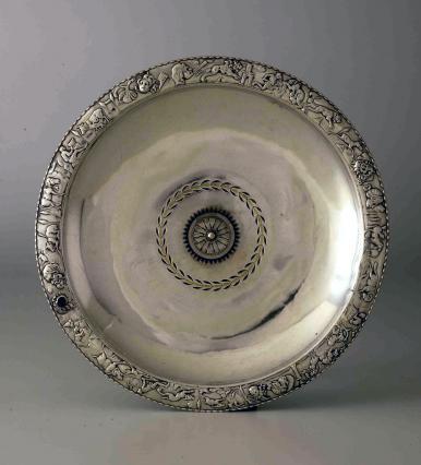 Grand plat en argent du Trésor de la place Camille-Jouffray, Musée des Beaux-Arts et d'Archéologie, Vienne, 3e-4e siècles
