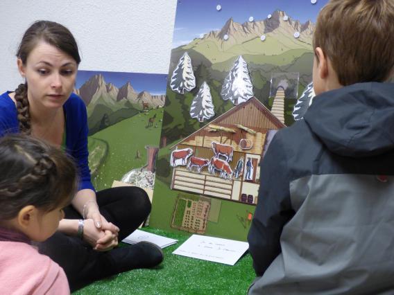 Atelier pour enfants à la Maison du Val d'Abondance