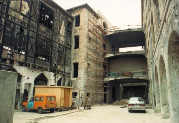 L'ancienne usine Vaganay durant sa réhabilitation