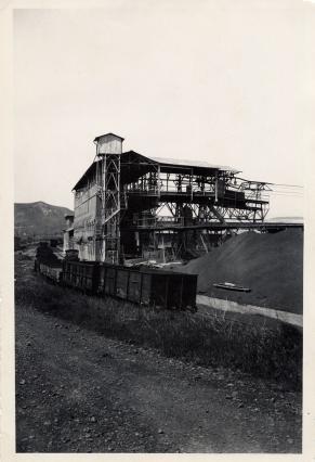 Ancienne carrière la Mass d'Aubignas - Arrivée des wagonnets