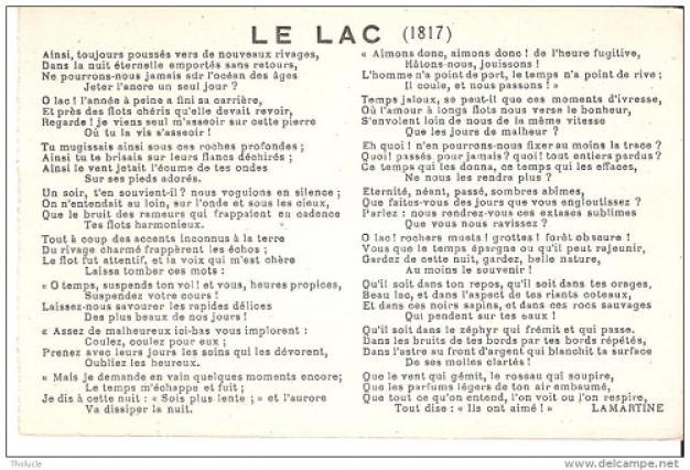 Dissertation alphonse de lamartine