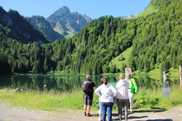 visite guidée au lac des Plagnes