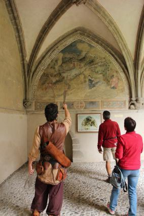 Peinture murale du cloitre de l'abbaye d'Abondance