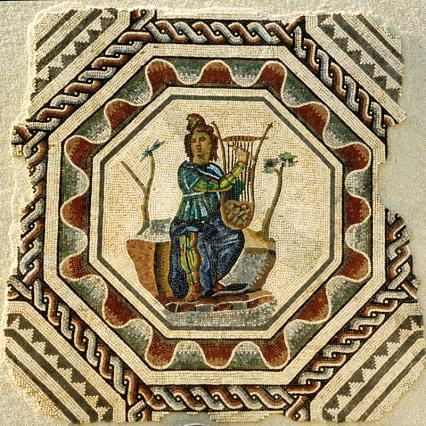 Mosaïque d'Orphée, Musée gallo-romain de Saint-Romain-en-Gal-Vienne