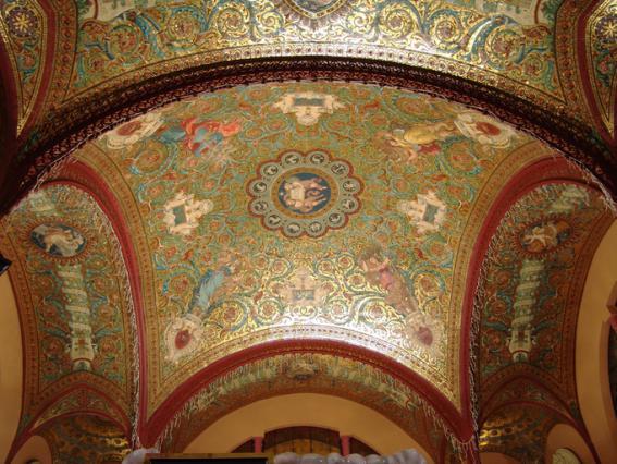 Mosaïque Salviati, coupole du pavillon sud du Casino Grand Cercle d'Aix-les-Bains