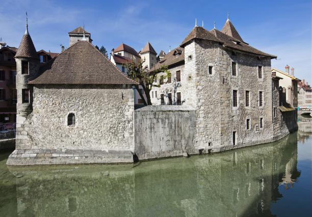 le Palais de l'Ile à Annecy, vue extérieure