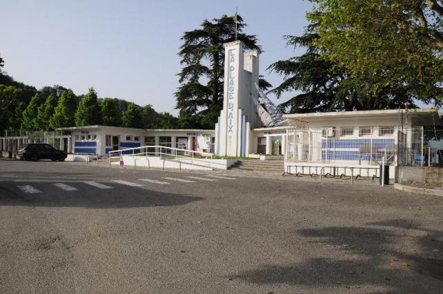 Entrée de la Plage municipale d'Aix-les-Bains, architecte Roger Pétriaux, 2015