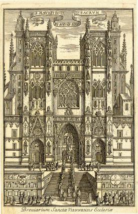 Procession devant la cathédrale Saint-Maurice en 1524, Musées de Vienne