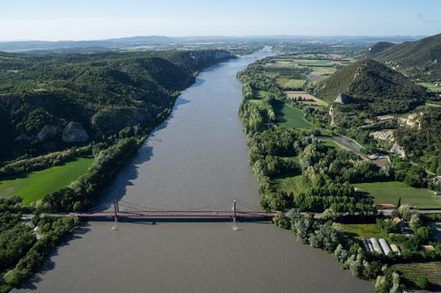 Le Rhône depuis Viviers