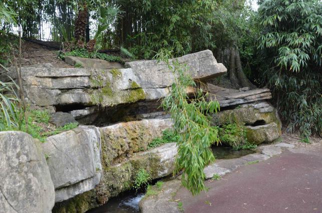 Rocaille dans le parc Jouvet