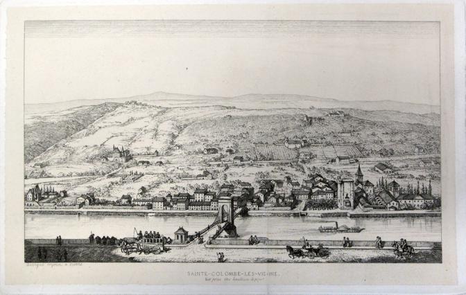 Sainte-Colombe-les-Vienne, vue prise des hauteurs de Pipet, Savigné, Musées de Vienne