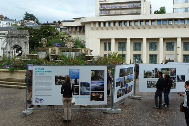 Exposition «C'était Aix-les-Bains en 2015…» devant les Thermes historiques, Journées européennes du patrimoine 2015