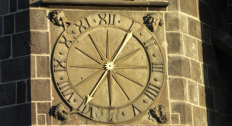 Cadran de l'Horloge, tour octogonale.