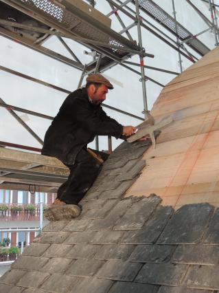Travaux de restauration des toitures