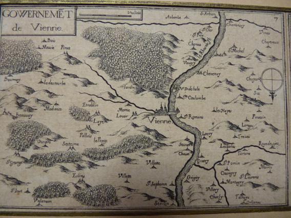 Vienne et les communes voisines au 17e siècle, Carte du govvernement de Vienne, 1634, Musées de Vienne