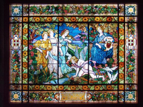 Vitrail de Jac Galland, Casino Grand Cercle d'Aix-les-Bains