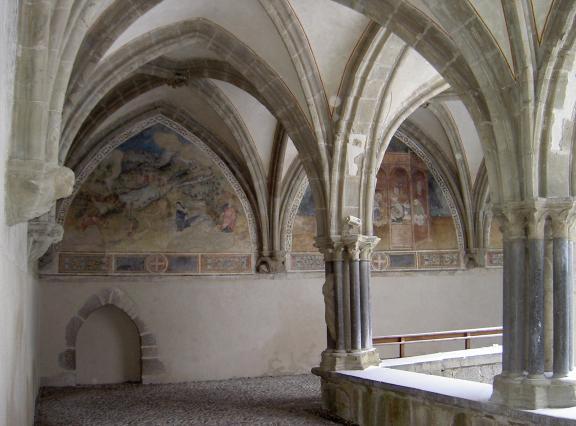 Peintures murale de l'angle sud ouest du cloître de l'abbaye d'Abondance
