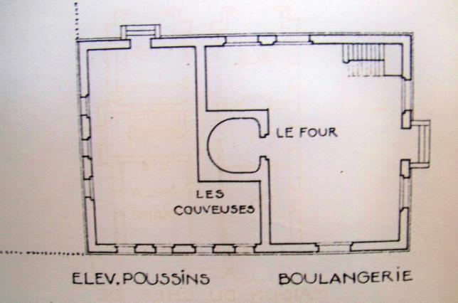 Boulangerie plan de 1920
