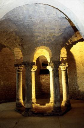 La rotonde de la crypte