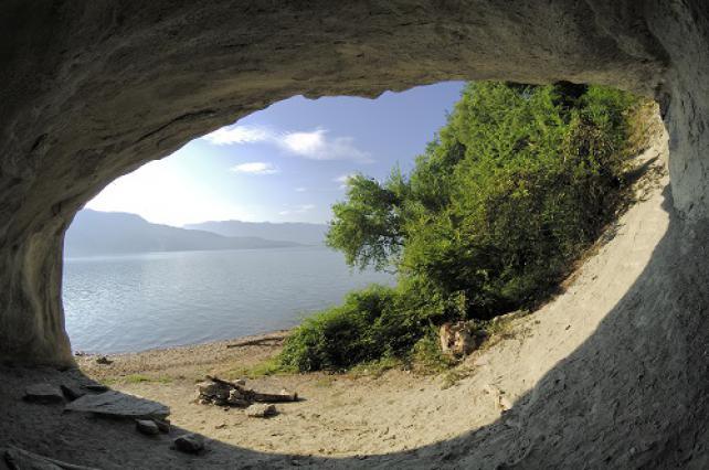 Grotte de Lamartine, au bord du lac du Bourget, Saint-Pierre de Curtille